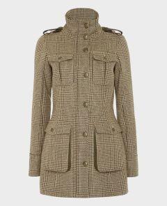 Parka Coat Loden Bark | Really Wild Clothing | Tweed Coat | Front Image