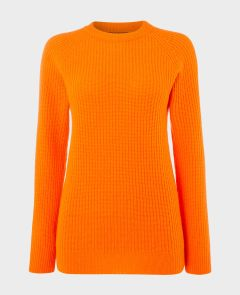 Cashmere Mix Crew Neck in Tangerine | Really Wild Clothing | Knitwear | Front image