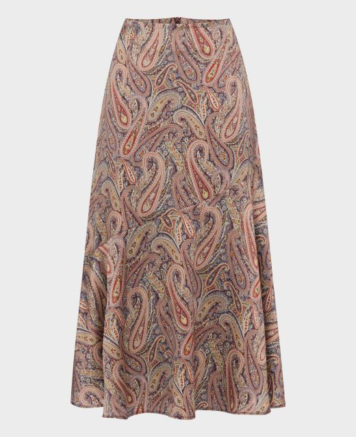 Really Wild Asymmetric Long Skirt Made with Liberty Fabric  Main Image