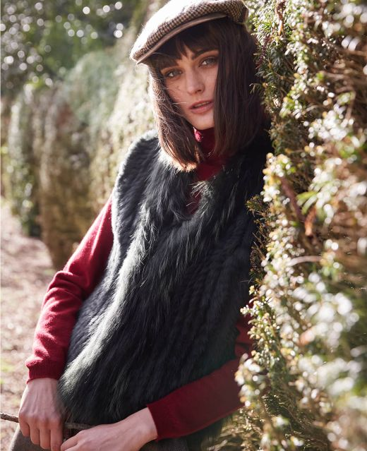 Really Wild Fur Gilet  Different Angle 1