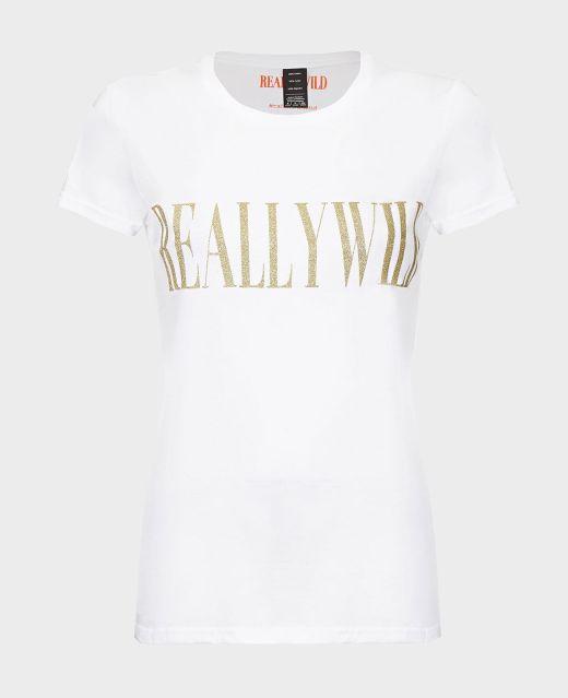 Really Wild White Glitter T-Shirt  Main Image