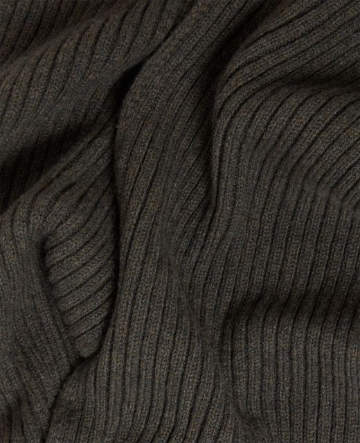 Really Wild Lambswool Ribbed Scarf Different Angle 1