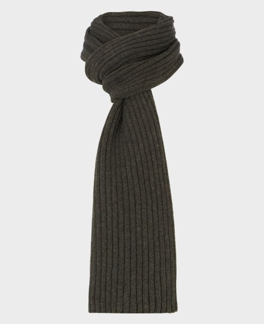 Really Wild Lambswool Ribbed Scarf Main Image