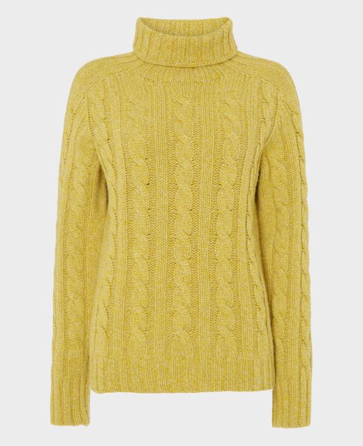 Really Wild Lambswool Cable Roll Neck Main Image
