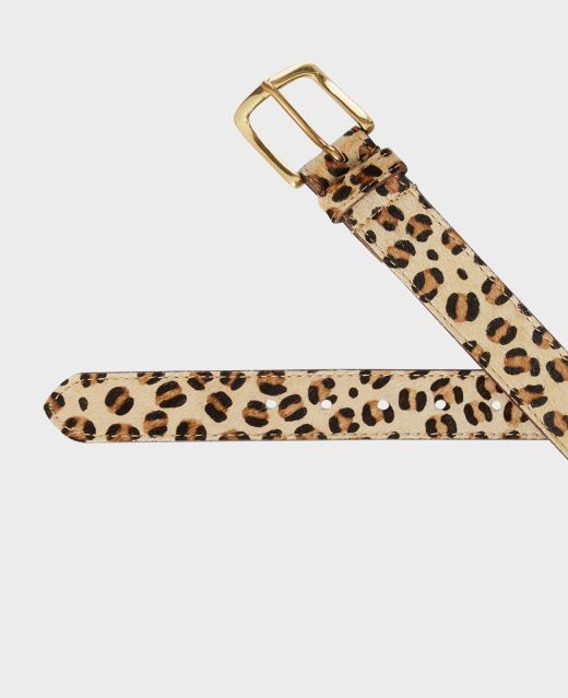 Really Wild Leopard Leather Belt  Different Angle 1