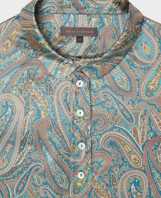 Really Wild Folk Shirt Made with Liberty Fabric Different Angle 1