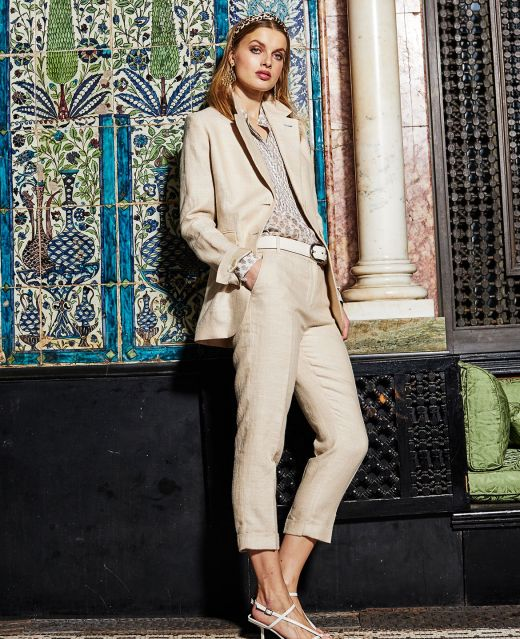 Really Wild Unlined Linen Jacket  Different Angle 1