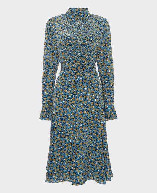 Really Wild Pleated Front Shirt Dress Main Image