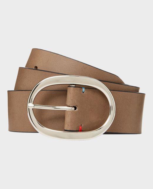 Really Wild Plain Italian Leather Belt  Main Image