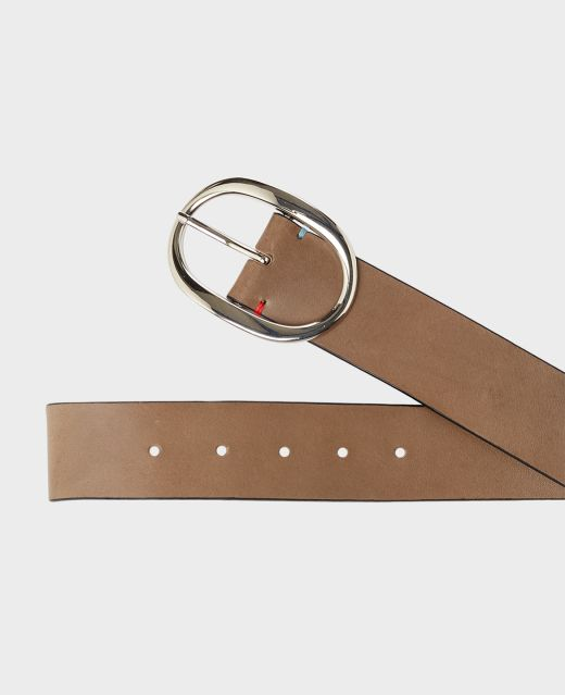 Really Wild Plain Italian Leather Belt  Different Angle 1