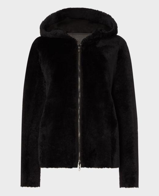 Really Wild Reversible Hooded Shearling Jacket Main Image