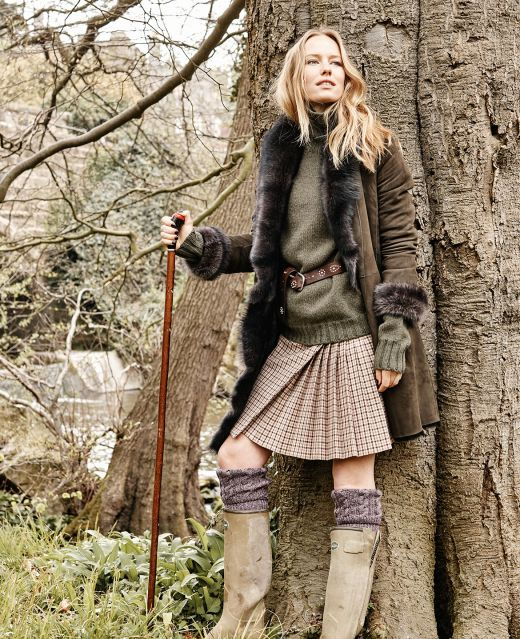 Really Wild Shearling Coat Different Angle 1
