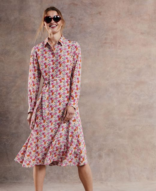 Really Wild Shirt Dress with Fluted Panels Different Angle 1
