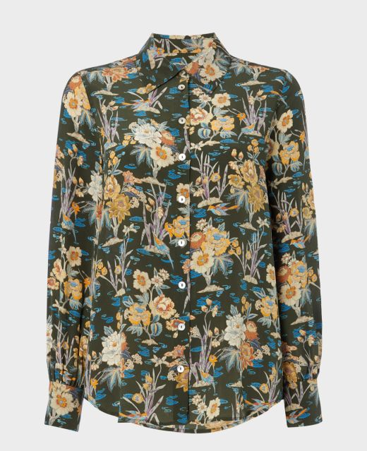 Really Wild Silk Shirt with Puff Sleeves Main Image
