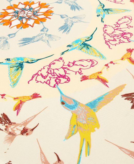 Really Wild Hummingbird Silk Scarf  Different Angle 1