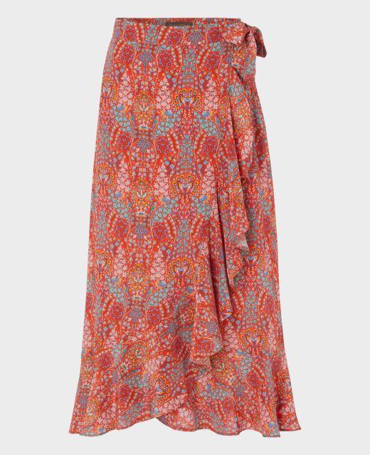 Really Wild Silk Tie Wrap Skirt  Main Image