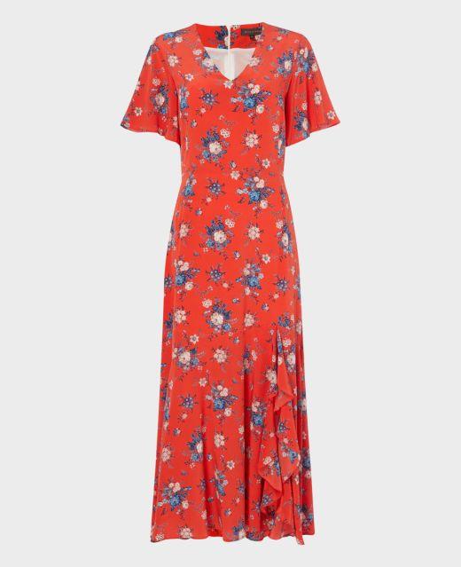 Really Wild V-Neck Dress with Side Frill Main Image