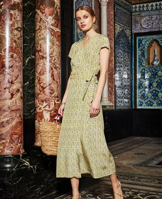 Really Wild Wrap Dress with Cap Sleeves  Different Angle 1