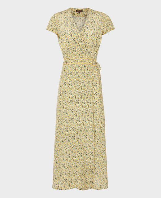 Really Wild Wrap Dress with Cap Sleeves  Main Image