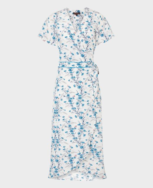 Really Wild Wrap Dress with Flared Sleeves Main Image